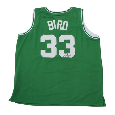 Larry Bird Signed Boston Celtics Replica Basketball Jersey, JSA COA