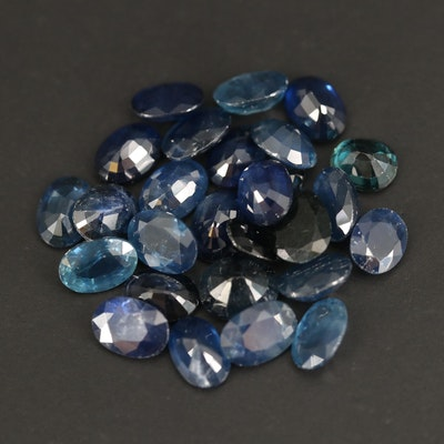 Loose 26.00 CTW Oval Faceted Sapphires