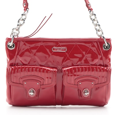 Coach Poppy Liquid Gloss Two-Way Hippie Bag in Red Patent Leather