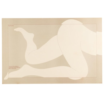 "Color Lithograph Poster after Milton Glaser ""Big Nudes"""