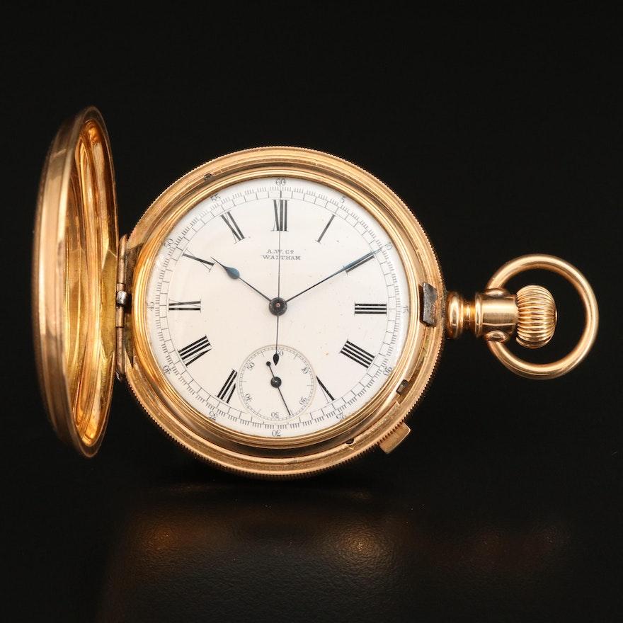 1883 A.W.Co. Waltham Chronograph Pocket Watch