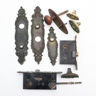 Victorian Door Backplates, Lock Covers, Latches, Strike Plates, Locks, Handles