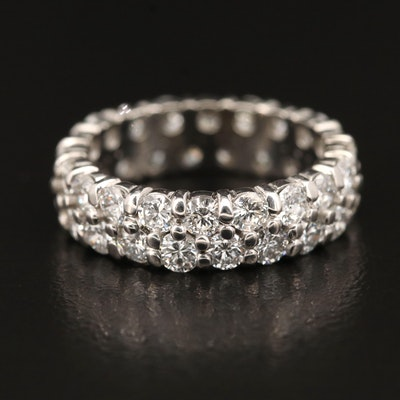 Platinum 2.40 CTW Diamond Eternity Band