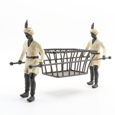 Orientalist Cast Iron Centerpiece Basket Holder