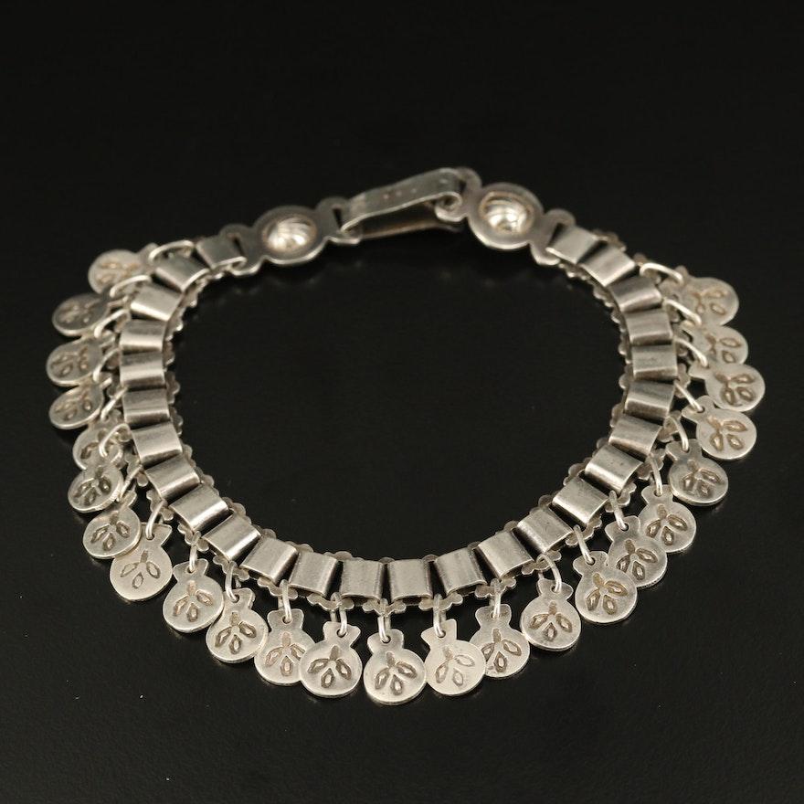 Vintage Book Chain Bracelet with Fringe