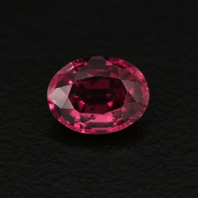 Loose 1.66 CT Oval Faceted Rhodolite Garnet