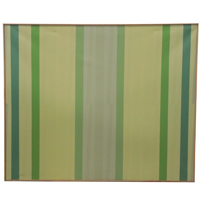 "Walter Stomps Large-Scale Abstract Acrylic Painting ""Early Green,"" 1972"