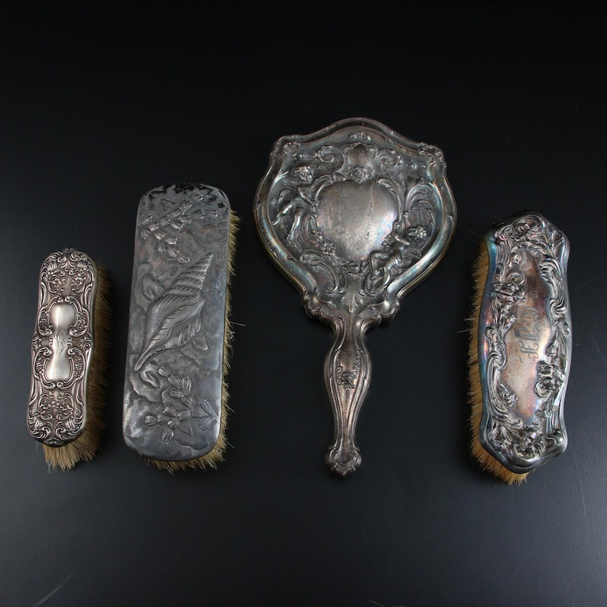 Gorham Repoussé Sterling Silver Clothes Brush and More Vanity Items