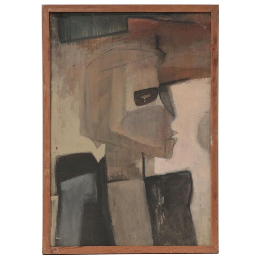 Walter Stomps Abstract Oil Painting, Late 20th Century
