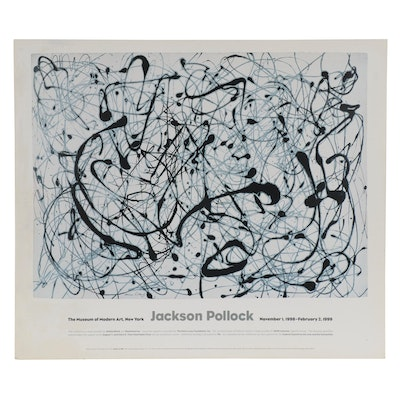 Museum of Modern Art Offset Lithograph Poster after Jackson Pollock, 1999