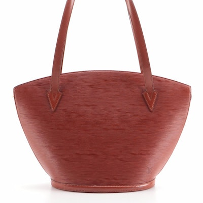 Louis Vuitton Saint Jacques GM Tote in Kenyan Fawn Epi and Smooth Leather