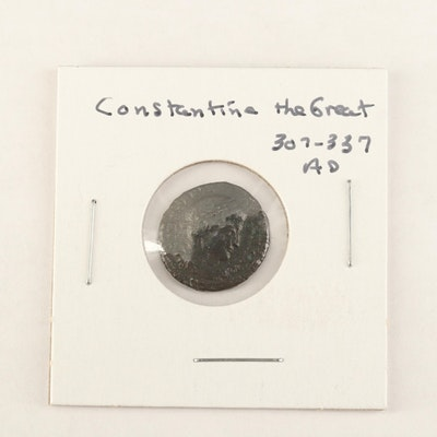 """Ancient Roman Imperial AE4 Coin of Constantine I, """"The Great"""", ca. 310 AD"""