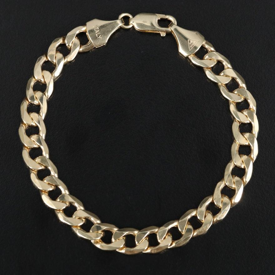 Italian 10K Curb Link Bracelet