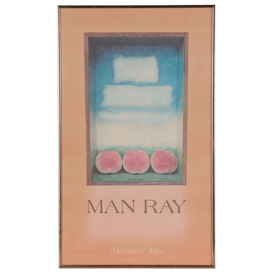 """Alexander Iolas Offset Lithograph Exhibition Poster """"Man Ray,"""" Late 20th Century"""