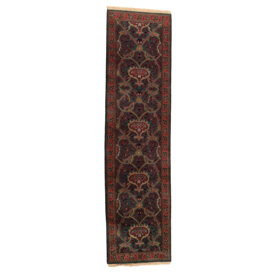 2'8 x 10'3 Hand-Knotted Indo-Persian Tabriz Carpet Runner