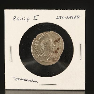 Ancient Roman Greek Provincial AR Tetradrachm of Philip I, ca. 249 AD