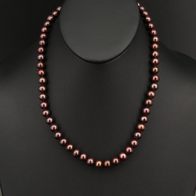 14K Semi-Baroque Pearl Necklace