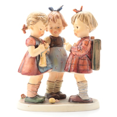 "Goebel Hummel ""School Girls"" Porcelain Figurine, Late 20th Century"