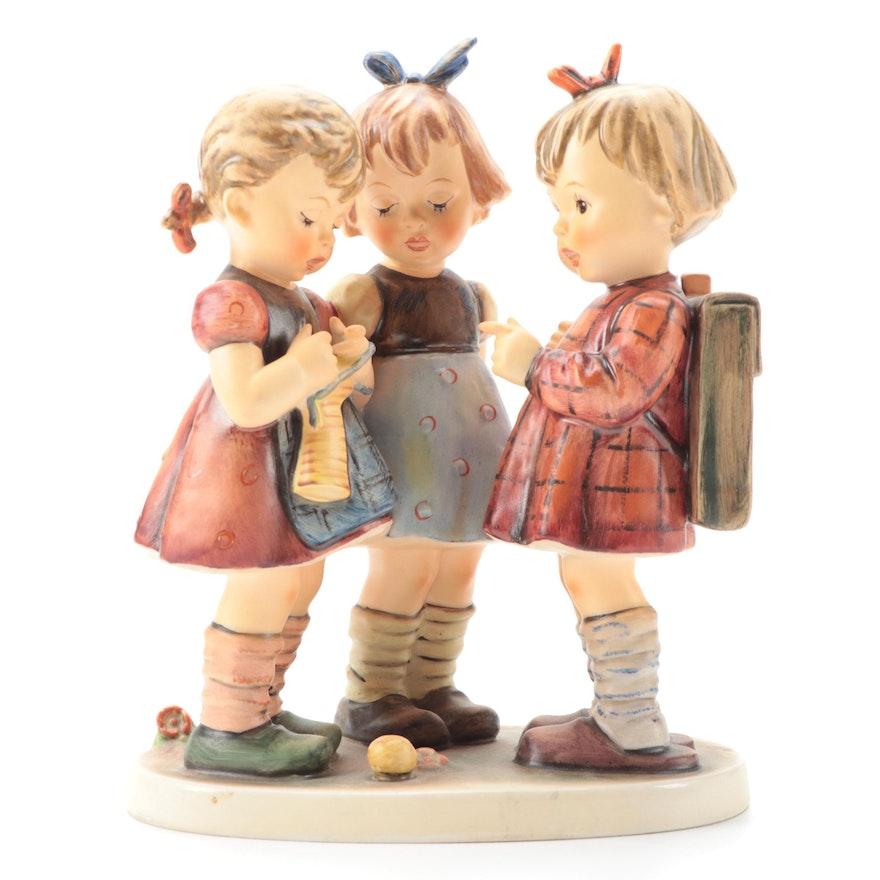 "Goebel Hummel ""School Girls"" Porcelain Figurine, Late 20th Century"