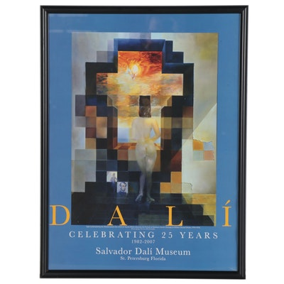 Salvador Dalí Museum Offset Lithograph Exhibition Poster, circa 2000