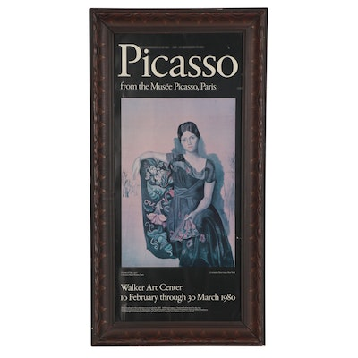 "Walker Art Center Offset Lithograph Exhibition Poster ""Picasso,"" 1980"