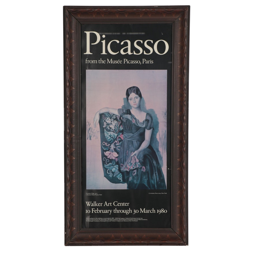 "Walker Art Center Offset Lithograph Exhibition Poster ""Picasso,"" 1980"
