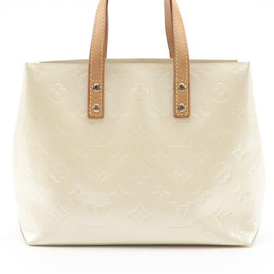 Louis Vuitton Reade PM Mini Tote in Perle Monogram Vernis
