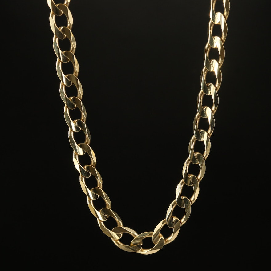 Turkish 10K Curb Chain Necklace