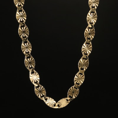 Italian 10K Fancy Link Necklace