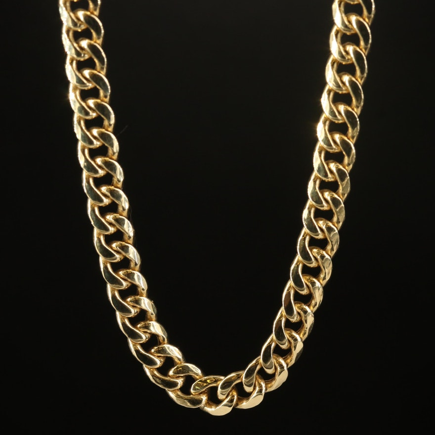 Italian 10K Curb Chain Necklace