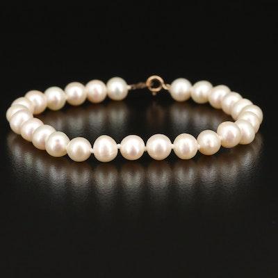 14K Pearl Bracelet