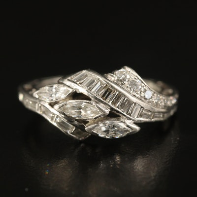 Platinum 1.00 CTW Diamond Ring
