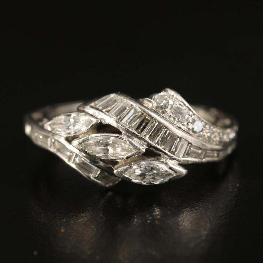 Platinum 1.00 CTW Diamond Ring