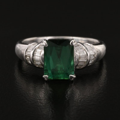 18K Tourmaline and Diamond Ring