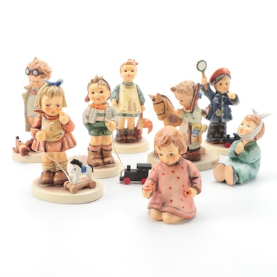 "Goebel Porcelain Figurines Including ""Fascination"", ""All Aboard"" and Others"