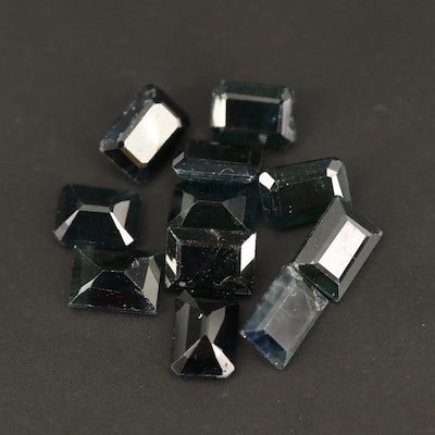 Loose 14.53 CTW Rectangular Faceted Sapphires