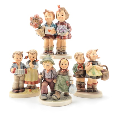 "Goebel ""To Market"", ""Going Home"" and Other Hummel Porcelain Figurines"