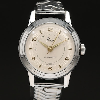 Vintage Basis Stem Wind Wristwatch
