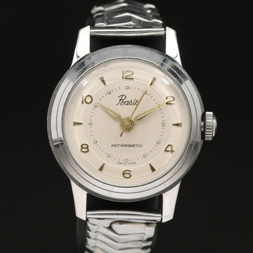 Vintage Basis Stem Wind Wristwatch
