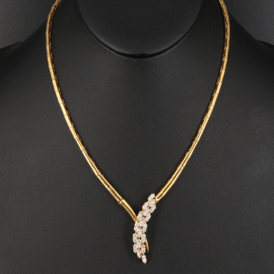 18K 1.62 CTW Diamond Waterfall Necklace
