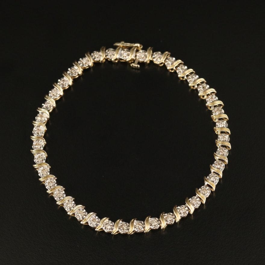 14K 1.17 CTW Diamond Illusion Set Bracelet