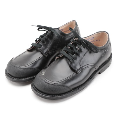 Children's Lace-Up Dress Shoes by Feature in Black Leather with Box