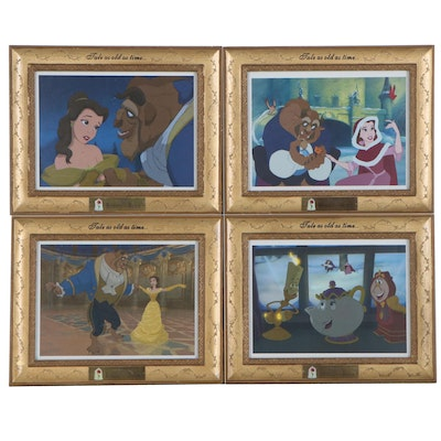 """Walt Disney """"Beauty and The Beast"""" Offset Lithographs"""
