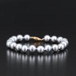 14K Imitation Pearl Beaded Bracelet