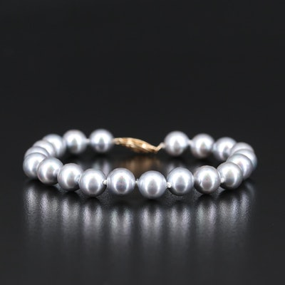 14K Imitation Pearl Beaded Bracelet