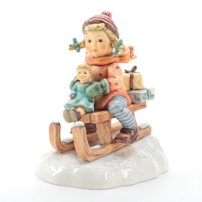 "Goebel Hummel ""Christmas Delivery"" Porcelain Figurine"