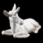 Tin Glazed Terracotta Recumbent Unicorn Statuette