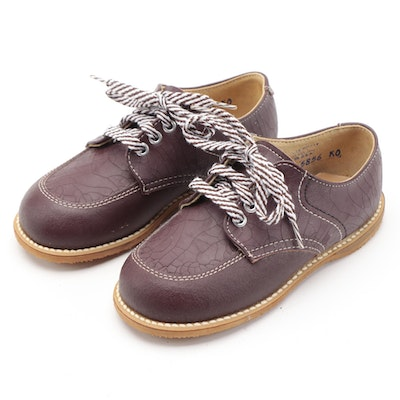 Children's Lace-Up Dress Shoes by Foot Mates in Brown Leather with Box