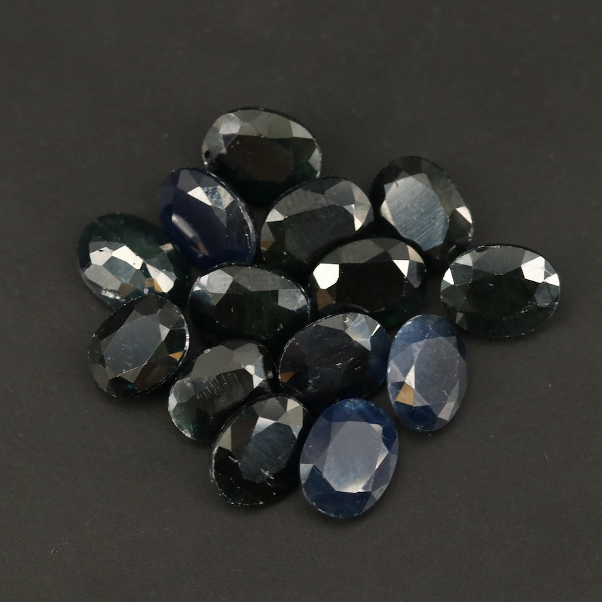 Loose 34.72 CTW Oval Faceted Sapphires