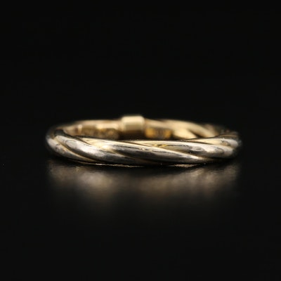Italian 14K Twisted Rope Ring
